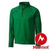 Marmot Stretch Fleece 1/2 Zip 男立領長袖刷毛保暖衣 綠 80890 機能保暖衣