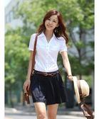 夏天職業襯衫女裝正裝短袖襯衫工裝女寸衫韓版白領工作服白襯衣女【感恩父親節全館78折】