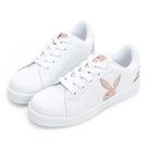 PLAYBOY 條紋魅力 兔兔小白鞋-白玫瑰金(Y7220)
