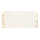 HOLA 卡琳娜印度棉編織地墊80x150cm 奶白/麥黃