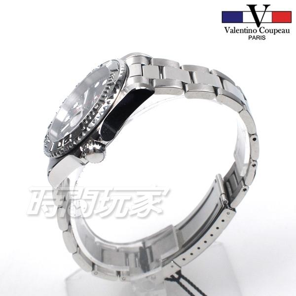 valentino coupeau 范倫鐵諾 古柏 水鬼王機械錶 夜光時刻不鏽鋼 防水手錶 男錶 潛水錶 V61299G黑