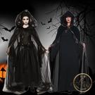 萬聖節服裝 萬圣節服裝成人女cosplay化裝舞會死神女巫鬼新娘骷髏長裙演出服-限時8折起