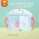 繪畫板 兒童畫板磁性塗鴉板彩色寶寶寫字板寶寶玩具多功能音樂繪畫板 koko時裝店