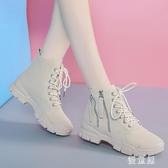 厚底馬丁靴 女2019新款時尚百搭機車靴英倫風短靴女春秋單靴 BT14471『優童屋』