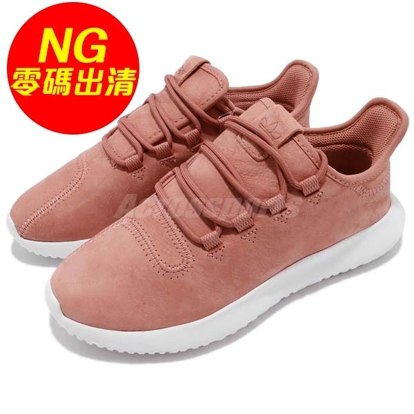 【US7-NG出清】adidas 休閒鞋 Tubular Shadow W 左內側麂皮磨損 粉紅 白 運動鞋 女鞋【ACS】