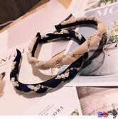 [Bbay] 頭飾 箍發 珍珠 鑲鉆 波浪 發箍 頭飾品