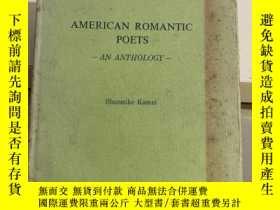 二手書博民逛書店american罕見romantic poets an anth
