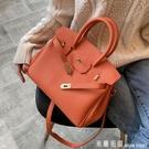 手提包 洋氣包女包2020新款潮韓版百搭斜挎包歐美單肩包時尚手提包鉑金包