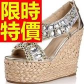 涼鞋-厚底耀眼唯美簡約女休閒鞋53l89【巴黎精品】