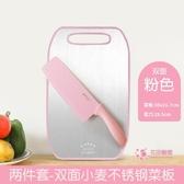 不鏽鋼砧板 雙面不鏽鋼切菜板抗菌砧板塑料家用水果案板砧板黏板小號迷你