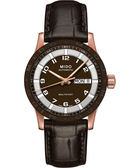 MIDO 美度 Multifort 先鋒系列時尚機械手錶-咖啡x玫塊金 M0188303629200