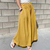 正韓舒適寬褲 妳要的個性穿搭質感長寬褲 艾爾莎 【TA570111】
