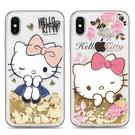 88柑仔店~Hello Kitty新款iPhone X XS 6Plus 7/8Plus 流沙手機殼卡通浮雕防摔保護套