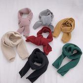 (交換禮物)糖果爺爺男女童秋冬季保暖針織圍巾0-1-2-3-4歲寶寶兒童嬰兒圍脖