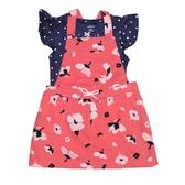 Carter s卡特 吊帶裙+蝴蝶袖包屁衣 二件組 紅花朵 | 女寶寶套裝(嬰幼兒/兒童/小孩)