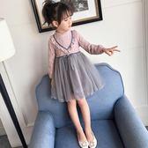 黑五好物節 女童連身裙春秋季童裝女孩2018新款洋氣公主裙兒童網紗裙子禮服裙 東京衣櫃