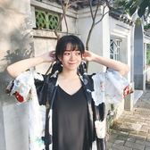 黑色仙鶴 原創昭和風日本復古飄帶 氣質發帶發飾綁帶百搭領巾自制