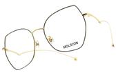 MOLSION 光學眼鏡 MJ7107 B12 (黑-金) 復古多邊造型款 #金橘眼鏡