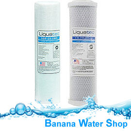 【Banana Water Shop】《2支裝》LIQUATEC通過美國NSF認證5微米PP濾心+10微米活性碳濾心各1支/10吋濾心