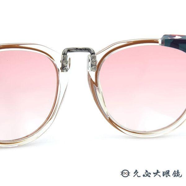 FENDI 墨鏡 FF0074FS (棕-透明花紋) 貓眼 太陽眼鏡 久必大眼鏡