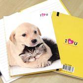 可愛寵物手繪風 狗狗筆記本 小狗小貓記事本-艾發現