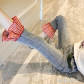女童牛仔褲夏裝中大童兒童褲子春裝童裝洋氣小女孩九分褲 ◣歐韓時代◥