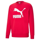 PUMA 男款紅色Classics長袖圓領衫 53008611