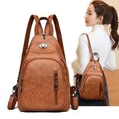 包包女新款小背包正韓時尚百搭女士軟皮胸包多功能復古後背包