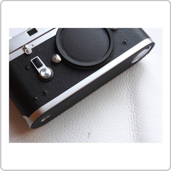 (BEAGLE) 真皮相機底座專用貼皮/相機蒙皮 Leica M2/M3/M4/M7/III/IIIf - 現貨供應 - 黑色(可訂製其他顏色)