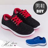 [Here Shoes]2色 極致型男透氣布男版運動鞋 慢跑鞋 休閒鞋 ◆MIT台灣製─AJ18052