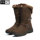 ESKT 女短筒雪鞋SN212 / 城市綠洲 (雪靴、防潑水、刷毛、冰爪)