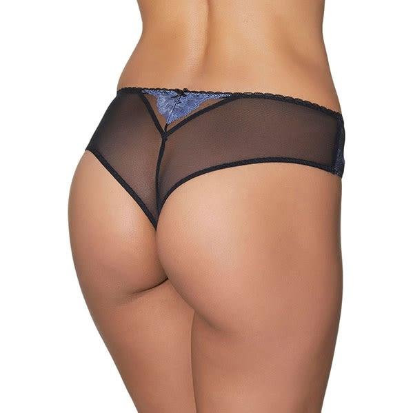Aubade-君士坦丁堡之吻M-XL中腰大版丁褲(藍)BG