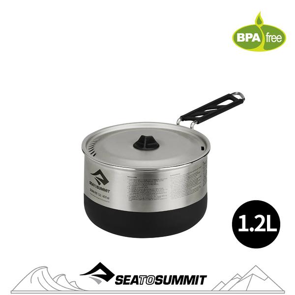 【Sea to Summit 澳洲 Sigma 折疊鍋《1.2L》】STSAPOTSIG/戶外餐具/鍋具/露營