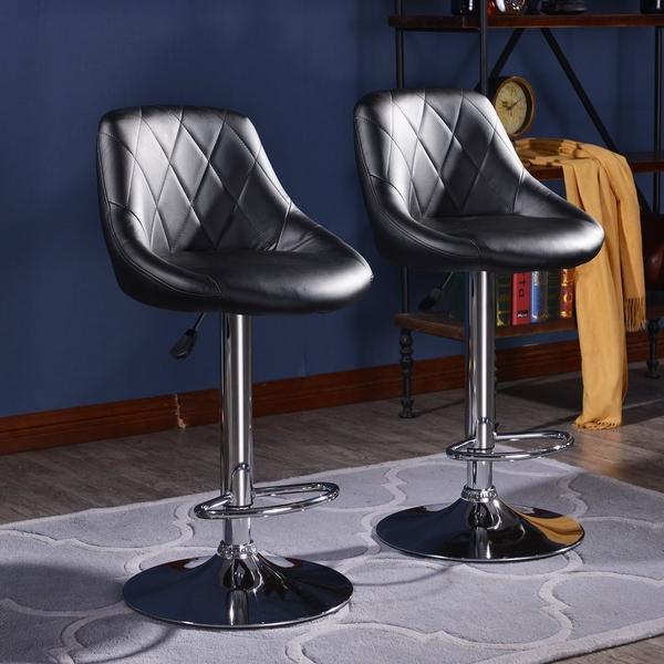 FDW【B12】免運現貨*復古菱格紋吧檯椅吧檯椅/高腳椅/吧台椅/設計師/工作椅/餐椅/