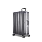 Arowana 晶燦光影25吋鑽石紋耐刮鋁框旅行箱(鐵灰色)