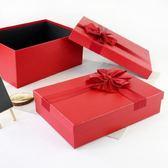 禮物盒禮品盒韓版長方形禮物盒 羽絨衣服包裝盒 商務簡約紅黑色禮盒 維多原創