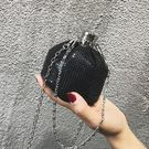 編織包迷你小包包女2019新款編織水桶包亮片鍊條側背包休閒鑰匙包斜背包 【限時優惠】