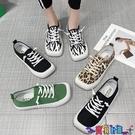 運動鞋 休閒鞋大頭帆布鞋女鞋子2021年新款小眾夏季薄款豹紋休閒運動板鞋小白鞋 寶貝 新品