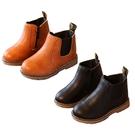 兒童皮靴 英倫風素面短靴童鞋 復古皮鞋 拉鍊童鞋 韓風童靴 88618