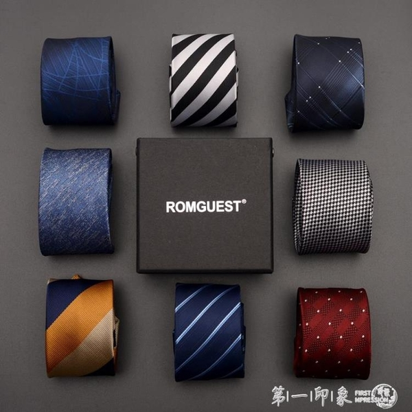 romguest領帶男士韓版6cm窄休閒商務職業學生女正裝新郎結婚襯衫 第一印象 第一印象