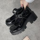 瑪麗珍鞋瑪麗珍鞋女軟妹復古法式松糕厚底鞋JK鞋蘿莉LO制服鞋2020春夏學生 JUST M