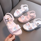 【2色】童涼鞋 女童 花童鞋 舒適涼鞋 愛心涼鞋 休閒涼鞋 柔軟防滑底 魔鬼氈涼鞋 J6846