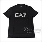 EMPORIO ARMANI印花白黑字LOGO純棉短袖T恤(S/M/L/XL/XXL/黑)