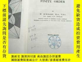 二手書博民逛書店theory罕見of groups of finite order(P3256)Y173412