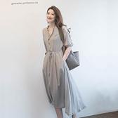 洋裝早初秋季2020新款大碼女裝胖mm洋裝子春秋長裙顯高氣質減齡顯瘦 阿卡娜