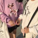 動物 長袖 T 小鹿 荷馬 狐狸 衛衣 帽T 大學T 上衣 棉質 寬鬆 長版 印花 可愛 NXS