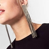 鍍金耳環-長款歐美時尚風格女耳飾2色73ns36[時尚巴黎]