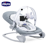 【新色上市好禮送】chicco-Hooplà可攜式安撫搖椅-金屬鈦灰