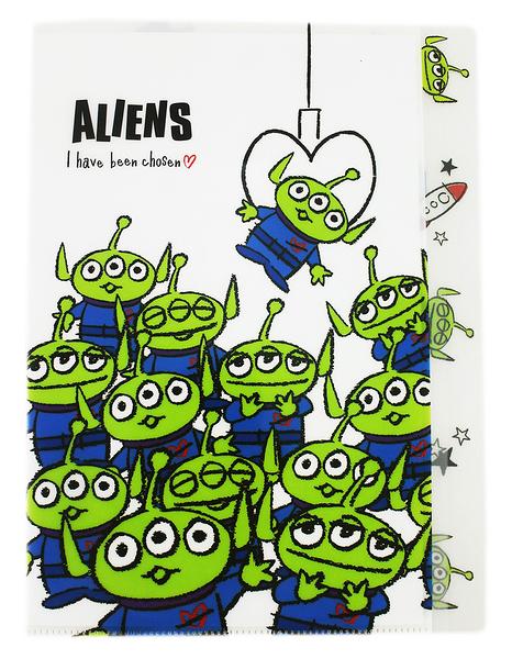 【卡漫城】 Aliens L字型 五層 資料夾 ㊣版 文件夾 檔案夾 台灣製 玩具總動員 Toy Story 外星人 三眼怪