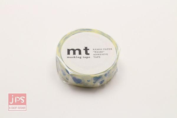 日本MT和紙膠帶 愛心印記-藍 MT01D332 (2016春夏款)